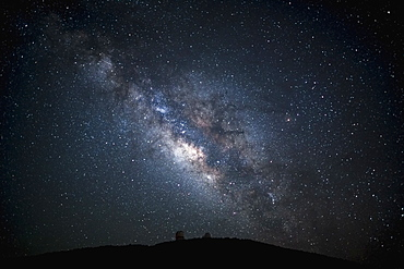 Silhouette of hill, McDonald Observatory, Texas