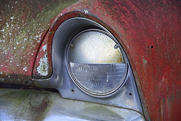 Close-up of old rusted car, Rural Georgia