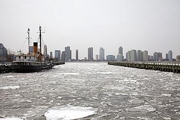 City skyline, Hudson River, New York,USA