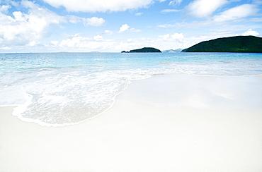 Scenic view of coastline, Cinnamon Bay, St. John, US Virgin Islands