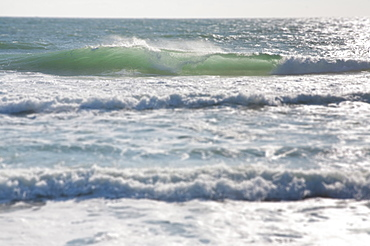 View of waves on sea, Nantucket Island, Massachusetts, USA