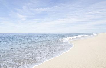 Scenic view of beach by sea, Nantucket, Massachusetts,USA