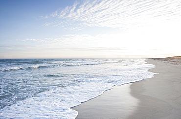 View of beach by sea, Nantucket, Massachusetts, USA