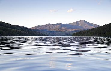 Scenic view of lake, Lake Placid, New York,USA
