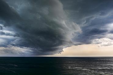 Cloud formations over sea, USA, Florida, Miami