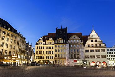 Marktplatz at night, Germany, Saxony, Marktplatz in Leipzig