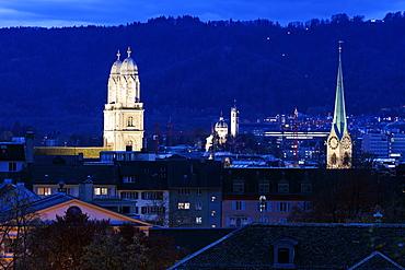 Churches of Zurich, Switzerland, Zurich, Churches of Zurich, Grossmunster, Fraumunster