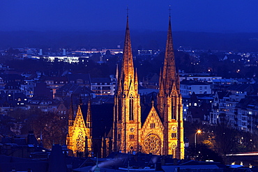St Paul's church, France, Alsace, Strasbourg, St Paul's church