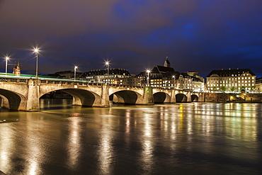 Mittlere Bridge, Switzerland, Basel, Basel-Stadt