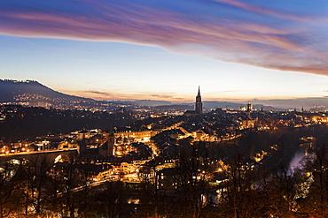 Old town at sunset, Switzerland, Bern-Mittelland, Bern