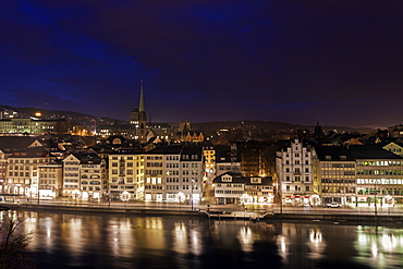 Old town at night, Switzerland, Zurich