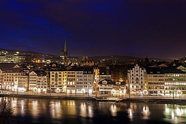 Old town at night, Switzerland, Zurich