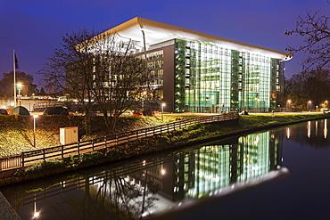 Building of Council of Europe, France, Alsace, Strasbourg, Conseil de l'Europe