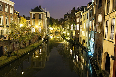 Canal at sunset, Netherlands, Utrecht
