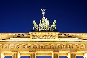 Statue on top of Brandenburg Gate, Germany, Berlin, Brandenburg Gate