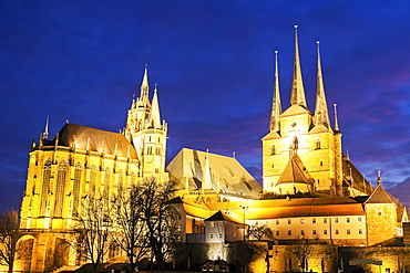 Church of St. Severus and Cathedral of St. Mary Domberg, Germany, Thuringia, Erfurt, Churches of St Severus, Cathedral of St. Mary Domberg
