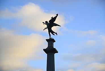 Argentina, Buenos Aires, Recoleta, Silhouette of monument, Argentina, Buenos Aires, Recoleta