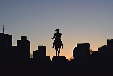 George Washington Statue, USA, Massachusetts, Boston, George Washington Statue