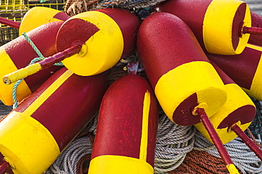 Colorful buoys and ropes