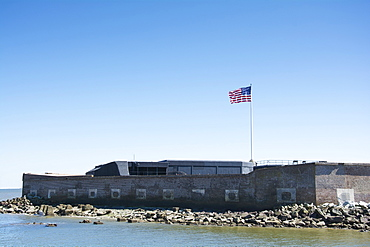 South Carolina, Charleston, Fort Sumter on sunny day