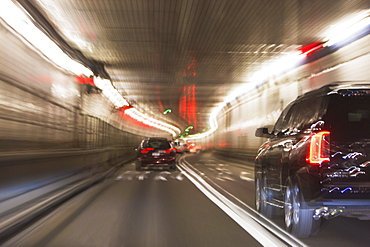 USA, New York State, New York City, Traffic in Lincoln Tunnel