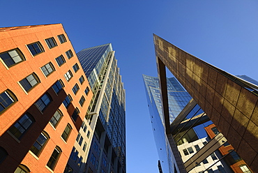 USA, Boston, Massachusetts, Buildings on Boston Waterfront