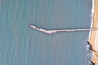 Australia, Queensland, Aerial view of pier (Drone)