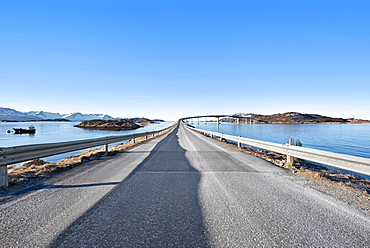 Bridge between islands in Tromso, Norway