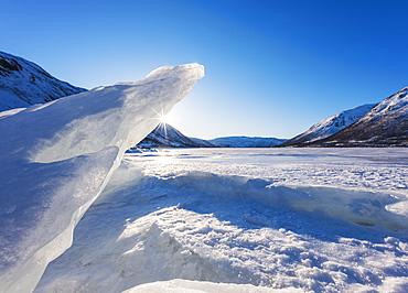 Polar landscape in Tromso, Norway