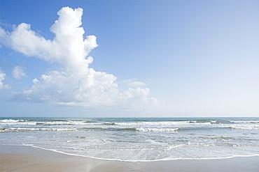 Clouds over beach in Surf City, North Carolina, USA