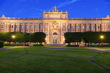 Parliament House at sunset in Stockholm, Sweden