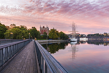 Bridge by Admiralty House at sunset in Stockholm, Sweden