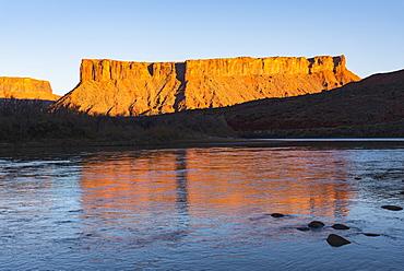 Cliffs by Colorado River in Utah, USA