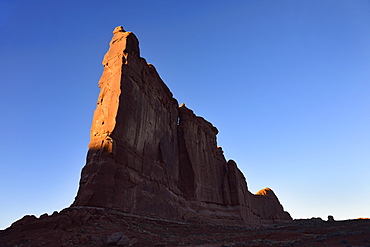 Courthouse Towers at sunset in Arches National Park, Utah, USA