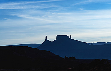 Silhouette of buttes in Arches National Park, Utah