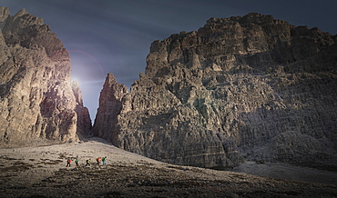 Mountains in the Dolomites, South Tyrol Italy