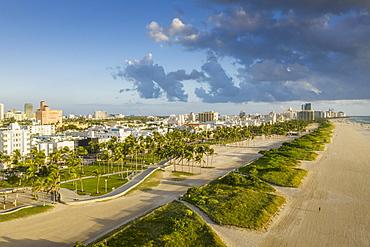 Cityscape of Miami Beach in Florida, USA