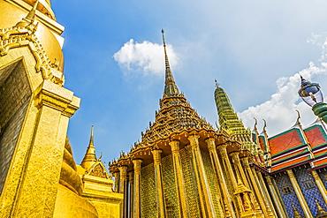 Low angle view of Wat Phra Kaew in Bangkok, Thailand