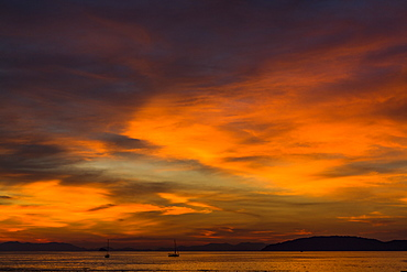 Cloudscape at sunset in West Railay, Thailand