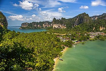 Coastline in East Railay, Thailand