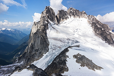 Snow on Purcell Mountains in Bugaboo Provincial Park, British Columbia, Canada