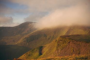 Clouds over the Carpathian Mountain Range