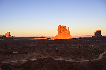 Buttes at sunset in Monument Valley, Arizona, USA