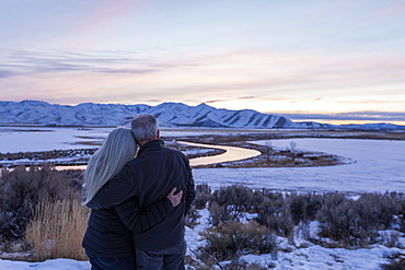 Couple in Picabo, Idaho