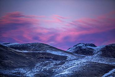 Mountain landscape at sunset in Bellevue, Idaho, USA