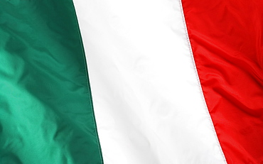 Close up of Italian flag