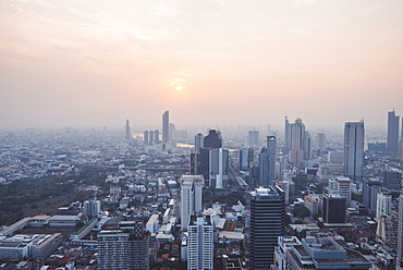 Cityscape during sunset in Bangkok, Thailand