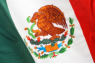 Close up of Mexican flag