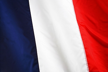 Close up of French flag