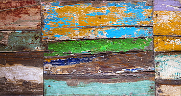 Weathered painted wood
